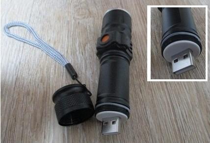 USB 충전식손전등 LED후레쉬