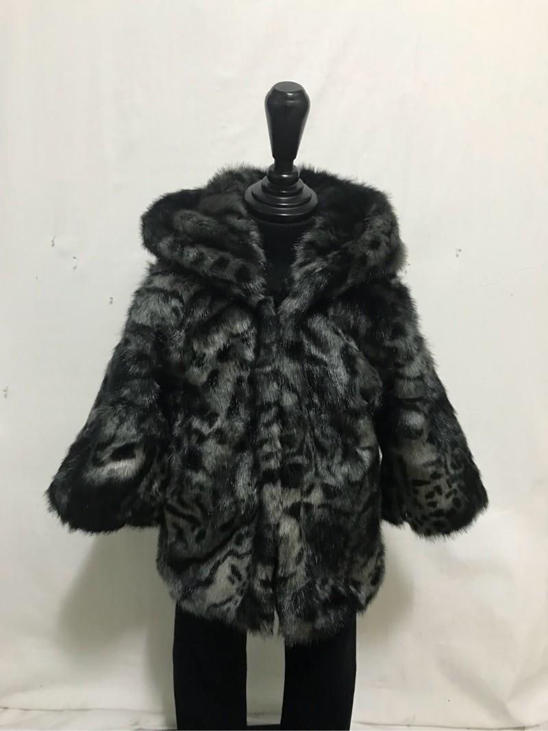 유아 인조 밍크 코트