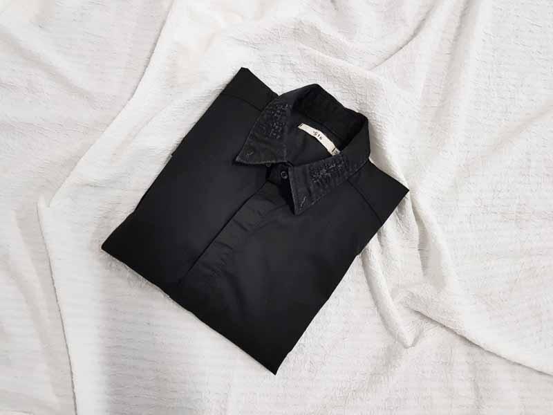 [완사입] 남성 빈티지 디테일 블랙셔츠 - 23장 3000원