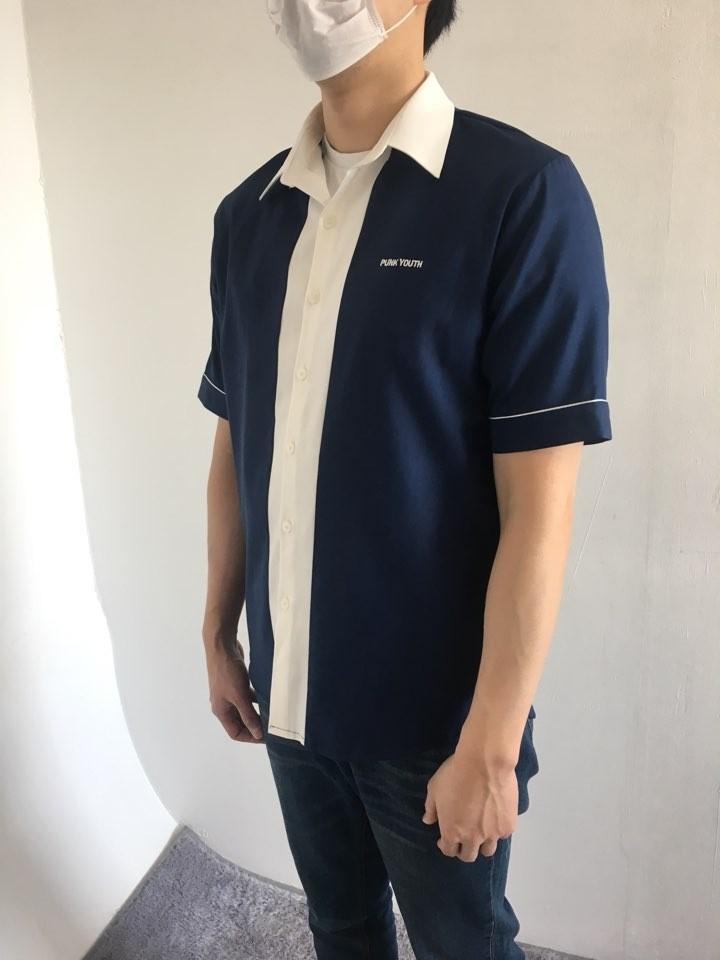 [완사입] 남녀공용 배색 파자마 셔츠 2컬러 - 54장 4000원