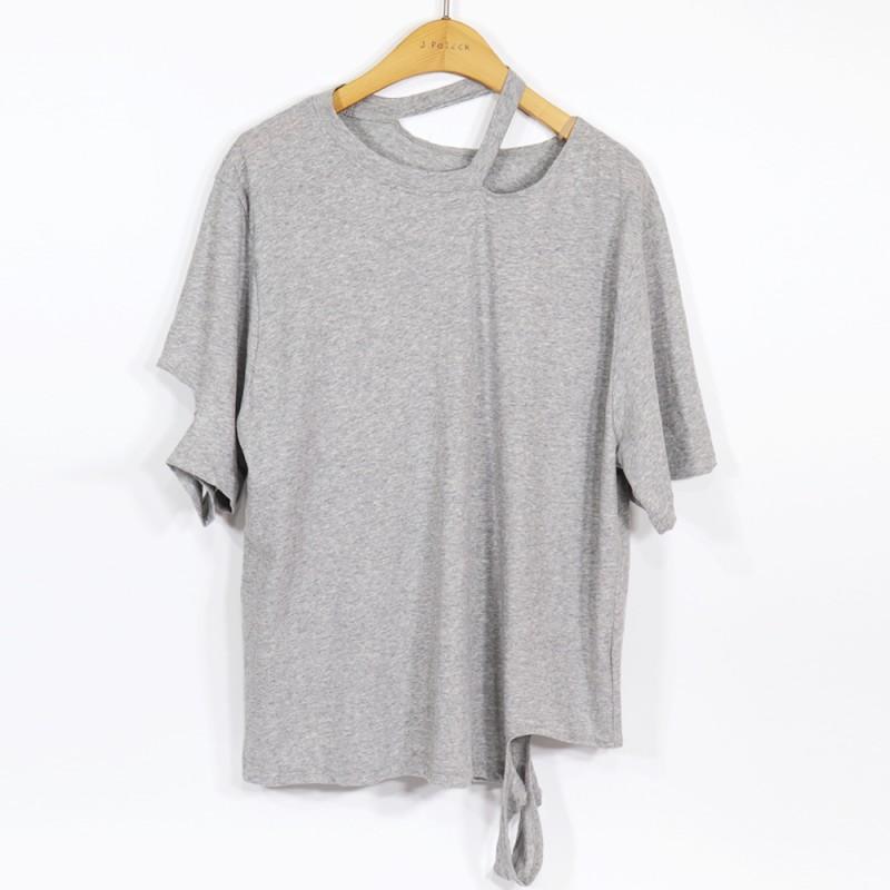 (도매야)퓨어 라운드 티셔츠