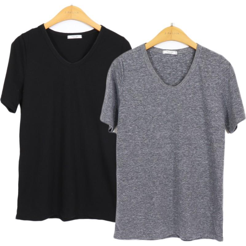 (도매야) 몰리지 브이넥 티셔츠