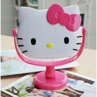 떨이 헬로키티 탁상거울 대자 사은품 단체선물 메이크업