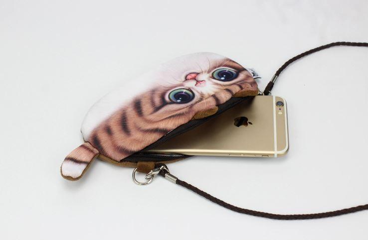 고양이 핸드폰가방