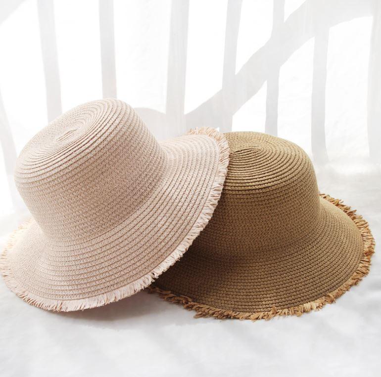 찢 테두리 모자