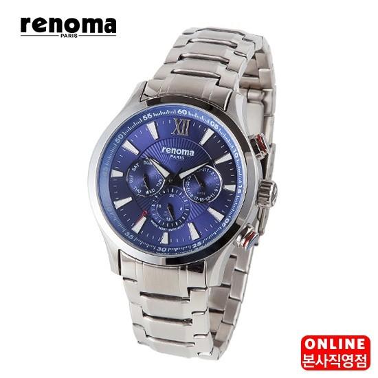 백화점 브랜드 레노마 남성 메탈 시계 RE 265