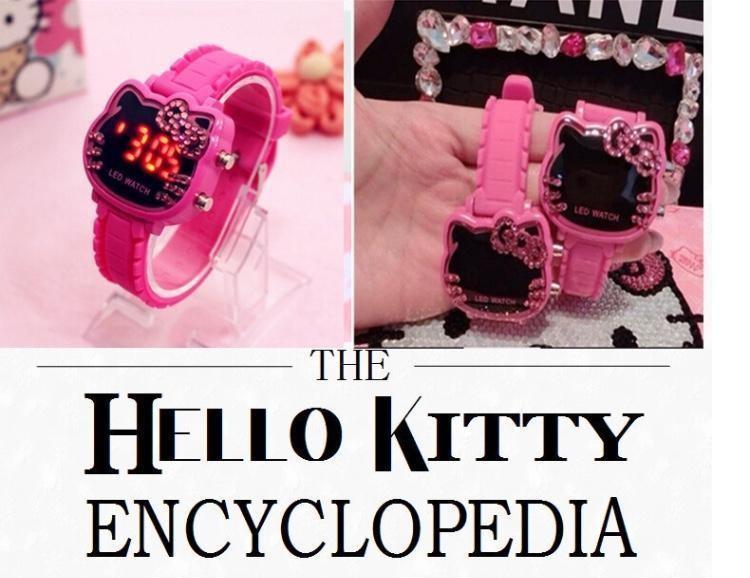 헬로키티 LED 전자 손목시계