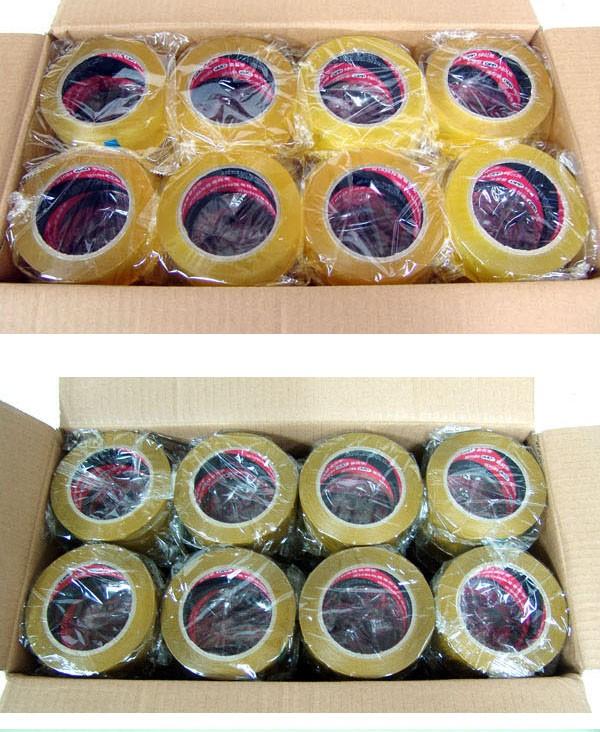 63mic(중포장) 80M 박스테이프 택포 30,000원 팝니다(투명,황색)