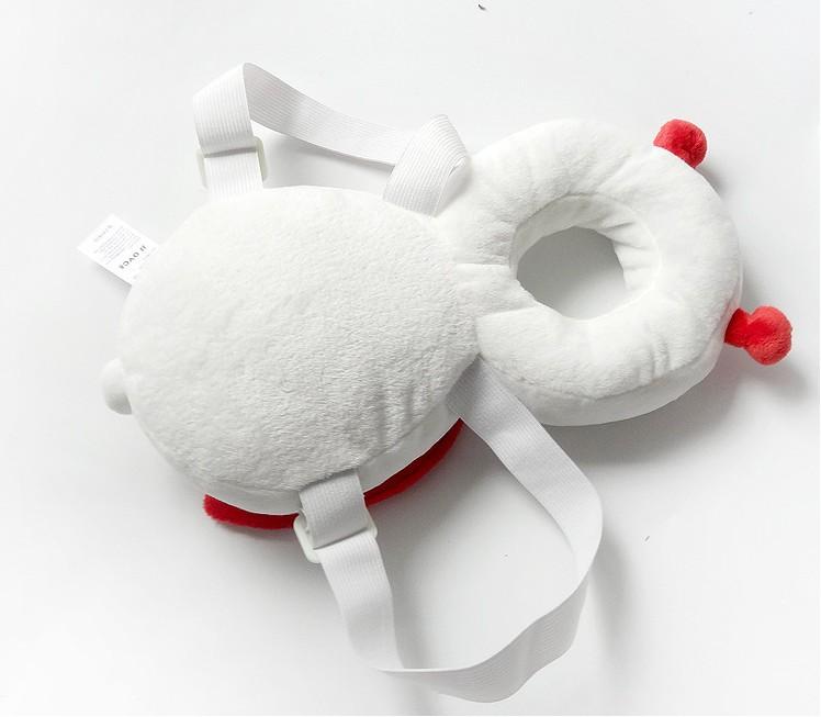 유아 아이용 머리쿵 방지쿠션 브라운 옐로우 벌꿀 천사 무당벌레