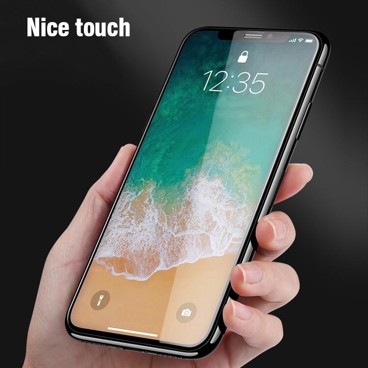 아이폰 x 5.8인치 강화풀커버유리필름 화이트 블랙