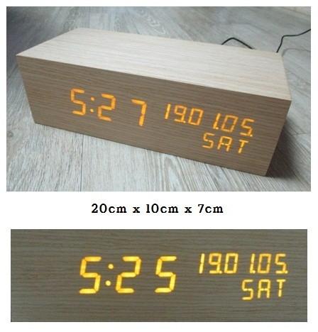 나무 LED시계 알람시계 탁상시계 리얼우드