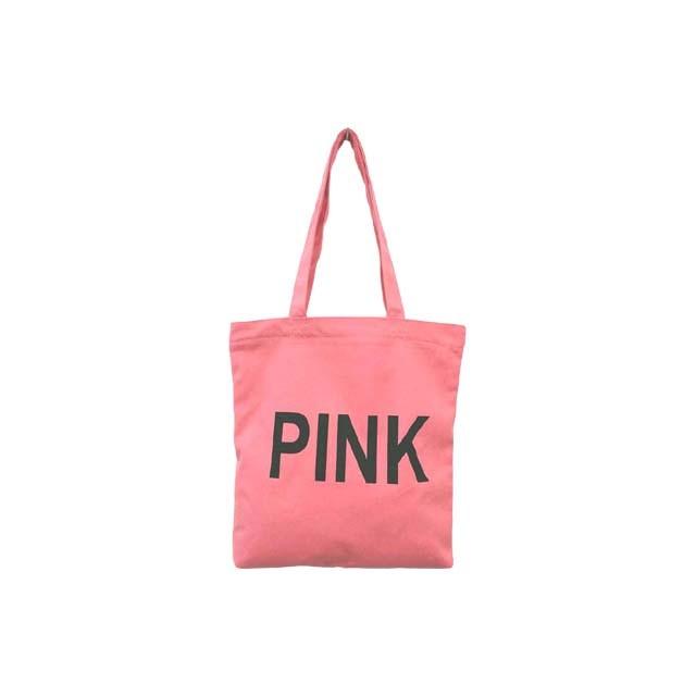 핑크 레터링 에코백