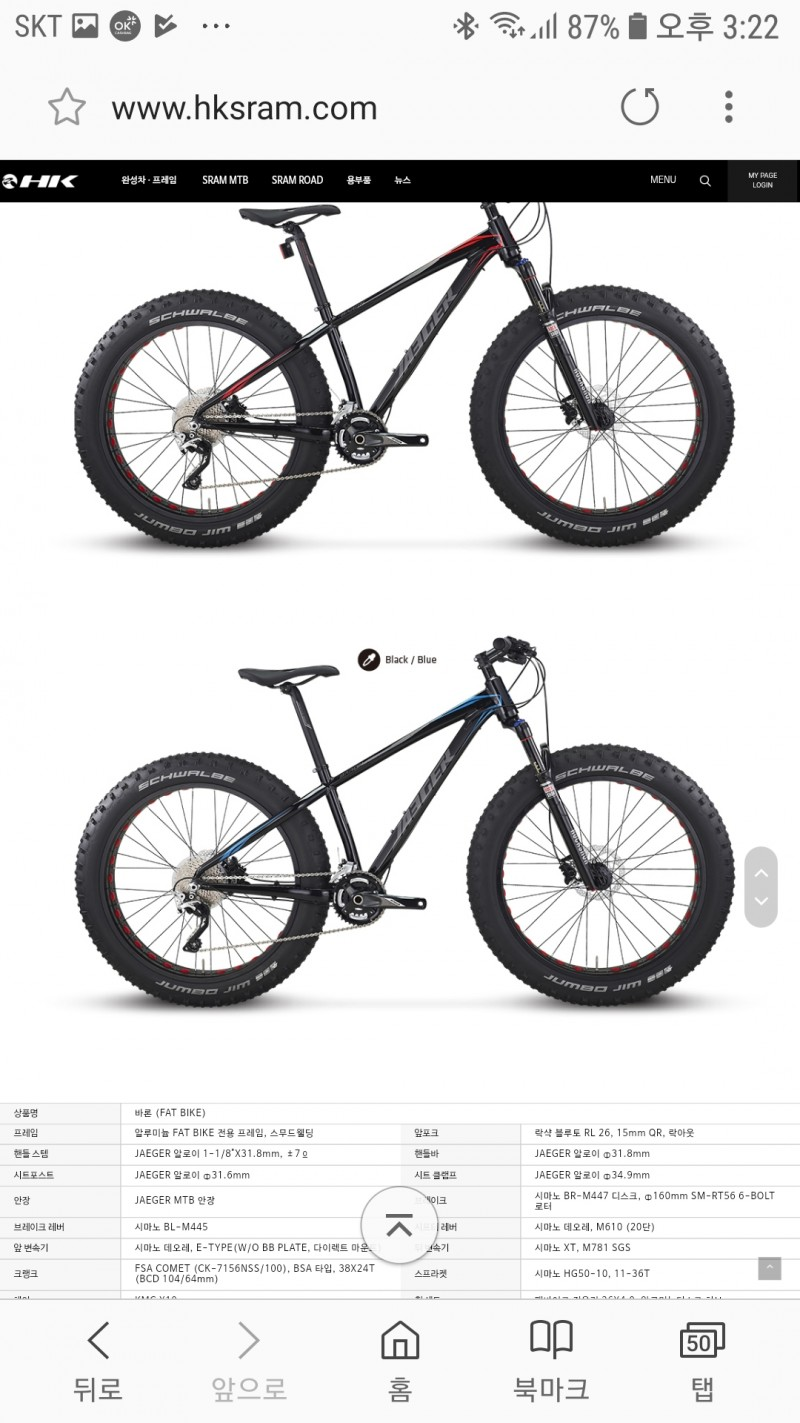 자전거  팻바이크