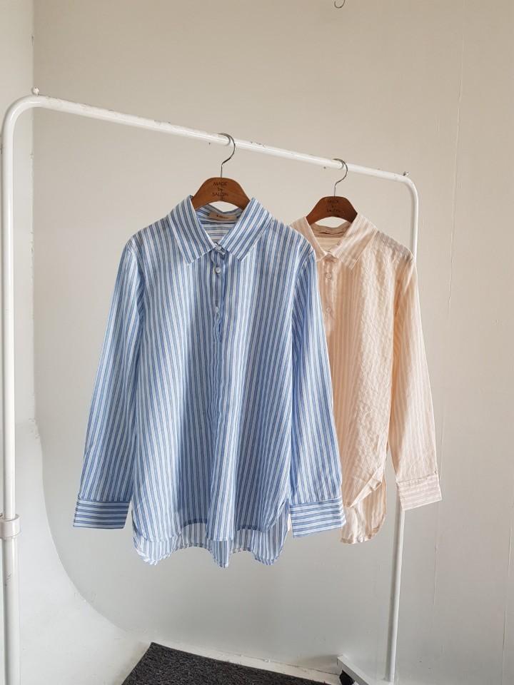 [완사입/파샬] 스트라이프 코튼 셔츠 2컬러 - 145장 3000원