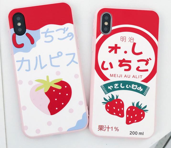 딸기 핸드폰케이스입니다