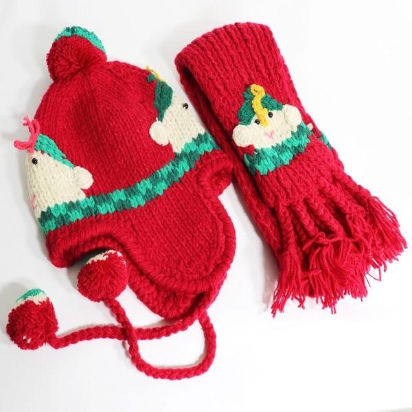 (도매야)유아동 뜨개 귀달이 모자 / 머플러 SET