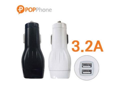 팝폰 마이크로5핀 USB 차량용 충전기 3.2A 1.2m