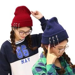 옷핀 비니 모자