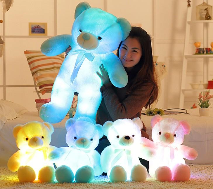 LED 빛나는 곰인형