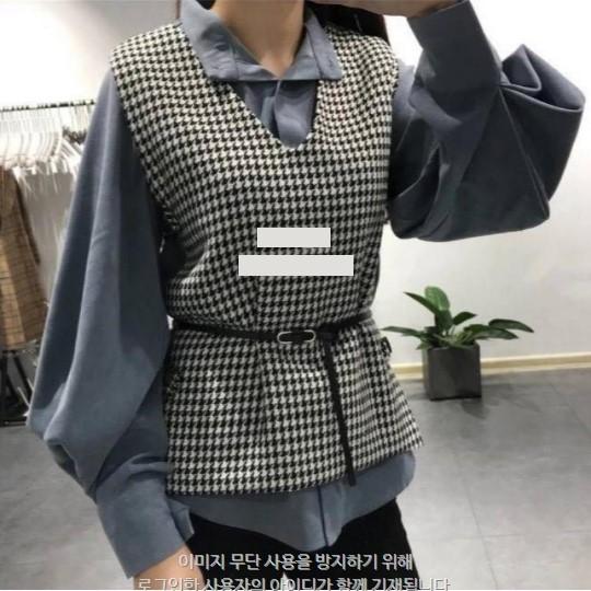 [완사입] 하운드 벨트 조끼 - 10장 3000원