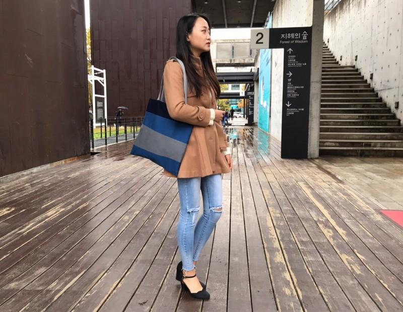 청바지 에코백 (대/중) 자체제작 데님 리폼가방