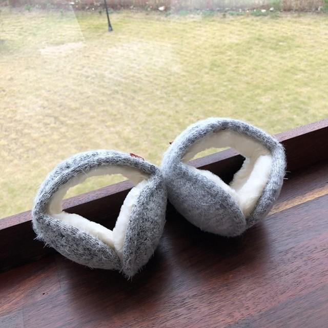 뭉치도리 방한 겨울 털 귀마개 귀도리