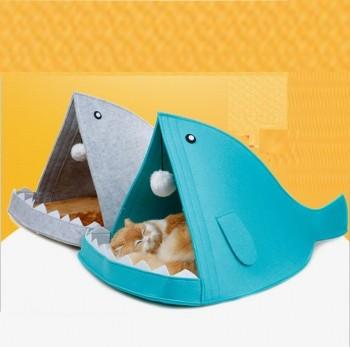 상어모양 고양이 강아지 하우스