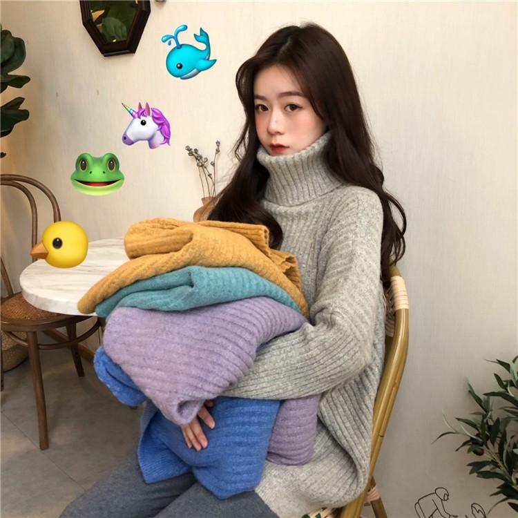 목폴라 니트 스웨터 5color