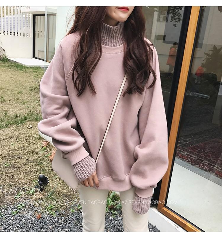 양모 루즈핏 스웨터