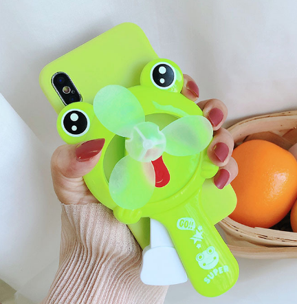 개구리선풍기 핸드폰케이스입니다