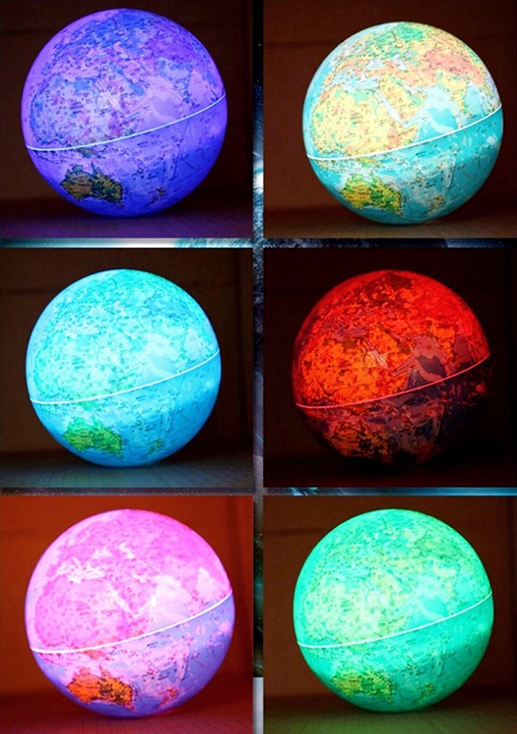자전하는 LED 지구본 소/중/대