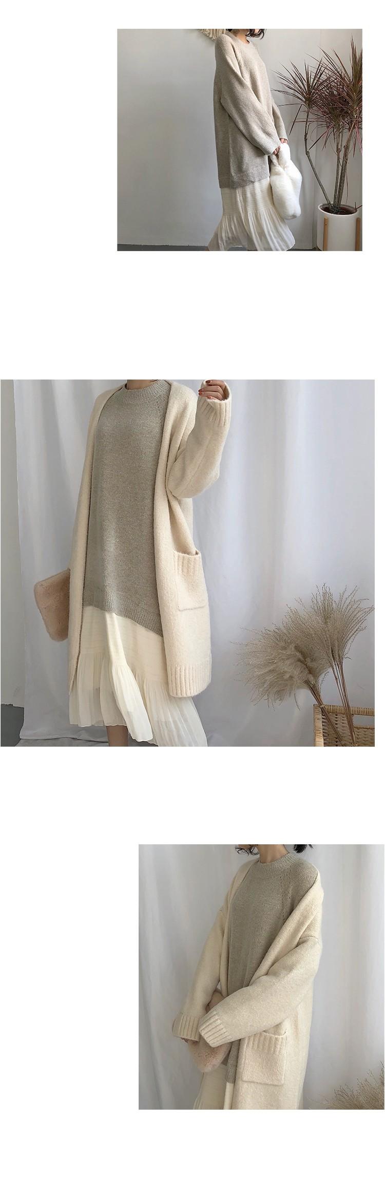 니트 쉬폰 프릴 드레스 원피스