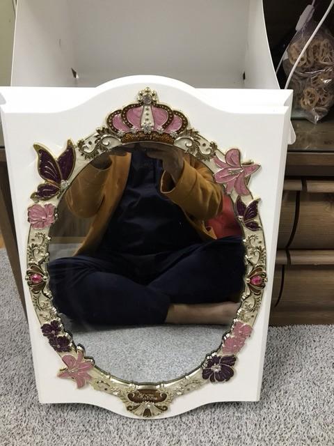 공주거울/악세사리수납겸용/인테리어소품