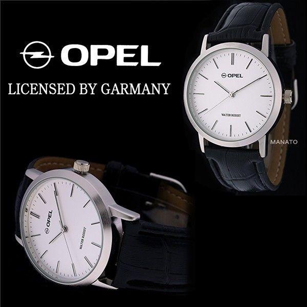 OPEL 남성용, 여성용 가죽 시계