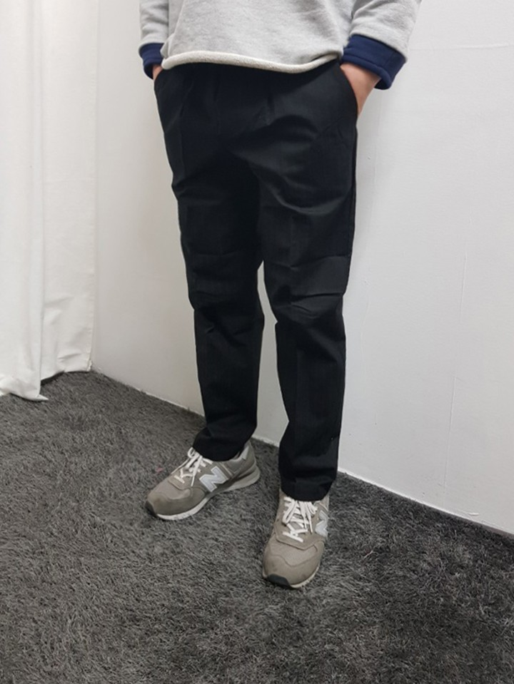 [완사입/파샬] 남성 허리밴딩 코튼 팬츠 3컬러 -23장 3500원