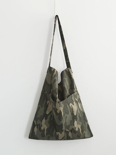 밀리터리 포켓 에코백/ 숄더백/ 여성가방/ 캐주얼가방