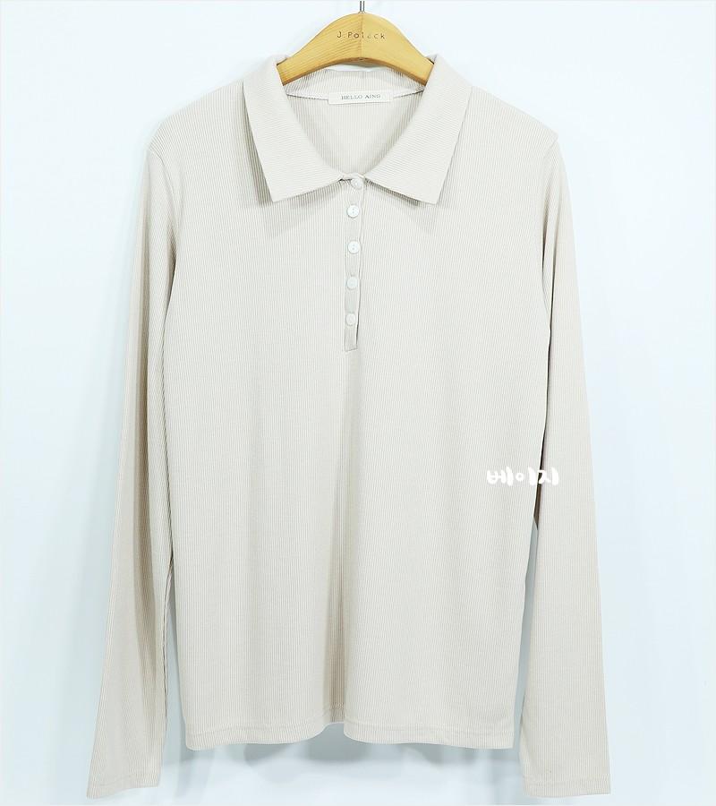 (도매야)장골지 카라 티셔츠
