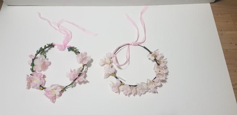 벚꽃 머리띠 화관 꽃화관 벚꽃축제 셀카 셀프웨딩 벚꽃행사 꽃축제 매화