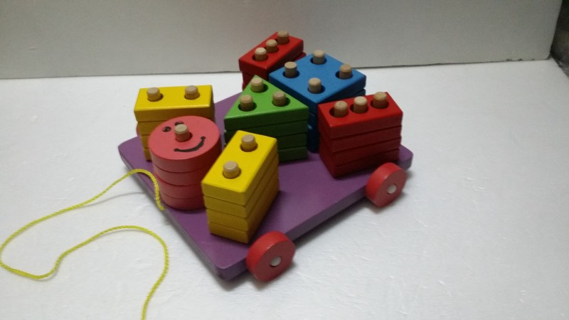 원목블럭끼우기자동차