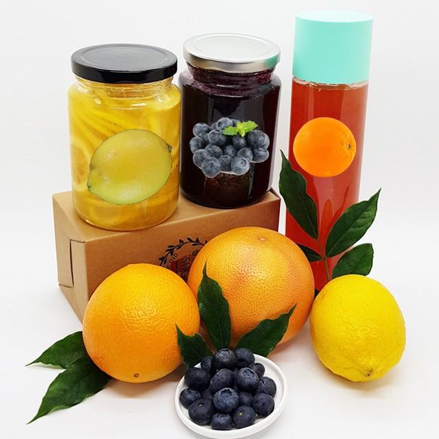 과일청 레몬청 오렌지청 블루베리청