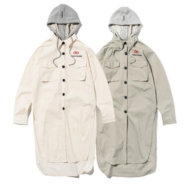 롱셔츠 후드 코트 자켓