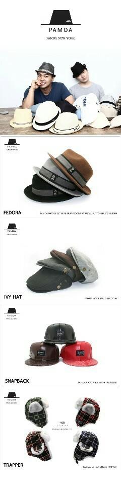 고급 모자 브랜드  파모아  모자 정리합니다.