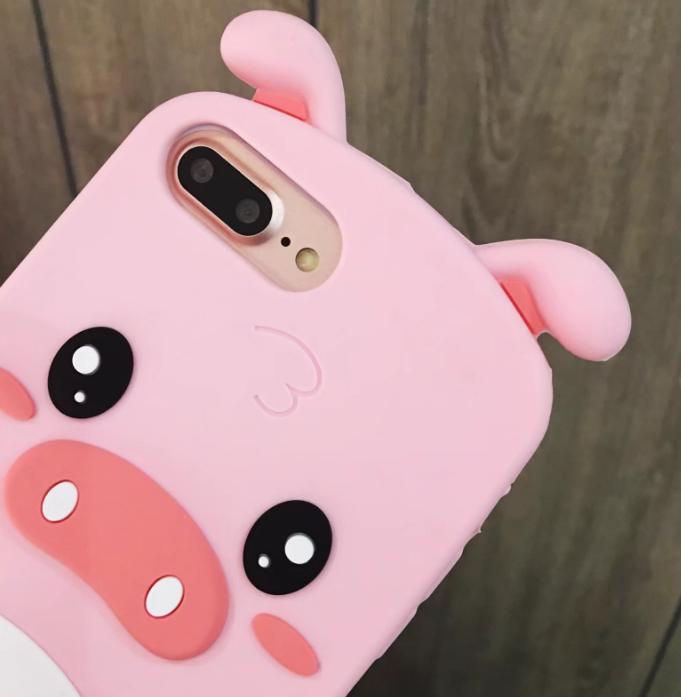 공장직배송 돼지 실리콘 핸드폰케이스입니다 제품31409