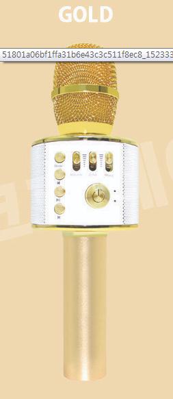 SM-M10 블루투스 노래방 마이크(골드)