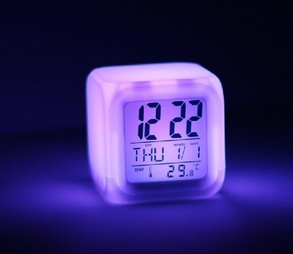 LED 무드등 디지털시계 [LED무드등/알람/다양한부가기능/판촉/선물용/최상급고품질/정가8천원]