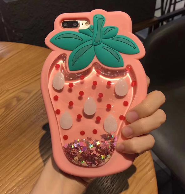 공장직배송 아쿠아딸기 실리콘 핸드폰케이스입니다 제품21409