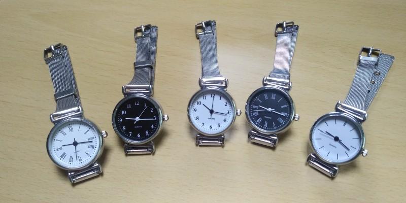 여성 메탈 패션 시계 복고풍 시계