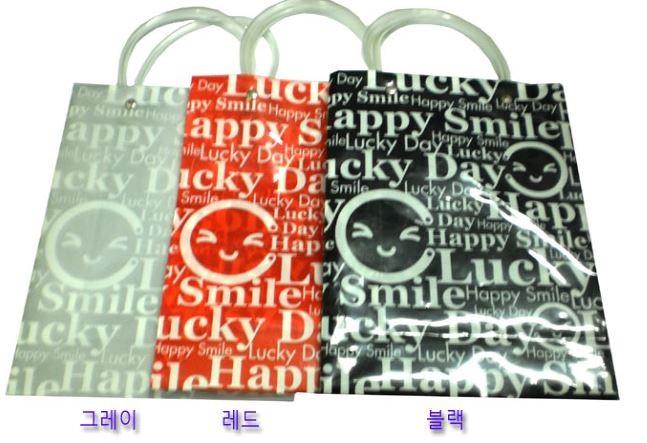 땡처리! lucky PVC 쇼핑백(소,중,대)