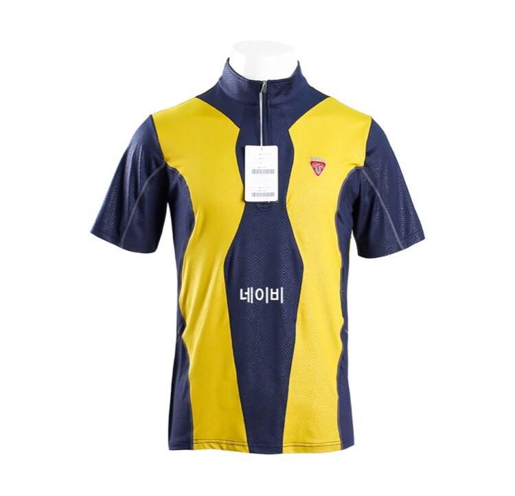 고랄 짚업 반팔 티셔츠 (남성)